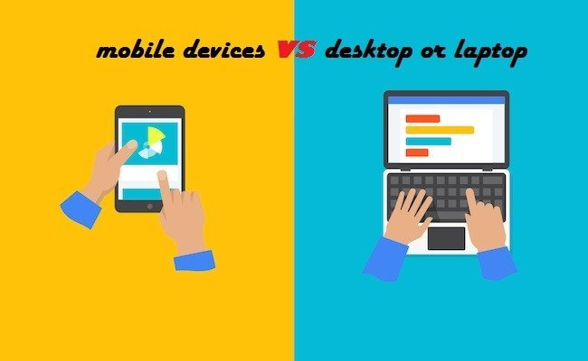 Which is the best option for online shopping -Mobile Devices or Desktops & Laptops
