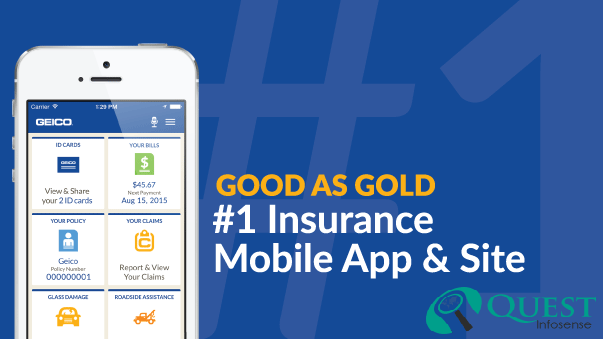 How can mobile app improve in an insurance Agency