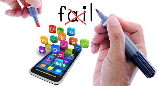 Top Reasons Why Mobile Apps fail at Succeeding in the Market