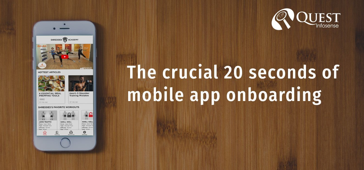 How to attract user in Crucial 20 seconds of Mobile App Onboarding